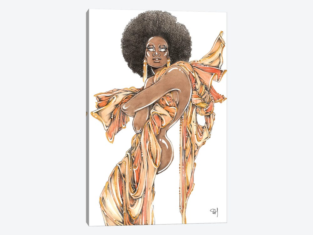 Afro Queen by Samuel Harrison 1-piece Art Print