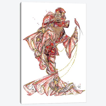 Enchanting Etro Pattern Canvas Print #SAH9} by Samuel Harrison Canvas Art Print