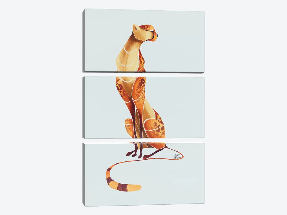Cheetah III by SAEIART 3-piece Canvas Artwork