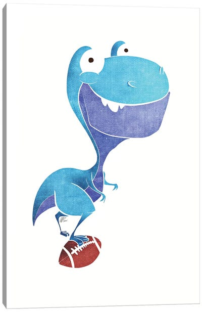 Cute T-Rex Canvas Art Print