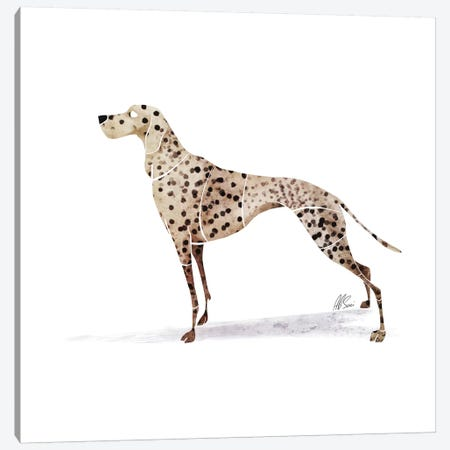 Dalmatian Canvas Print #SAI15} by SAEIART Art Print