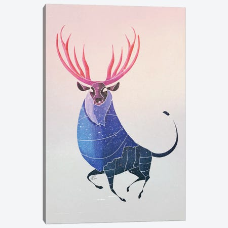 Deer 3-Piece Canvas #SAI16} by SAEIART Art Print