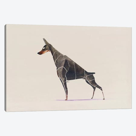 Doberman Canvas Print #SAI17} by SAEIART Canvas Art Print