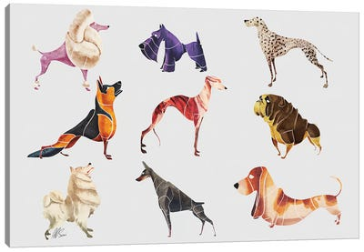 Dog Breeds Canvas Art Print