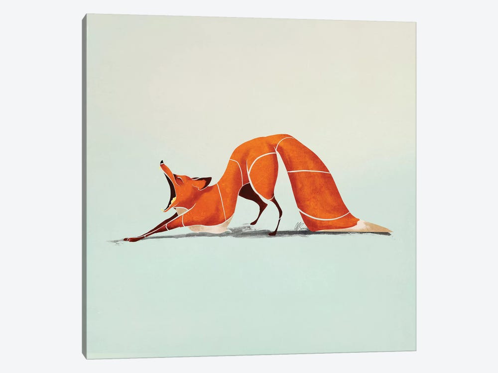 Fox III by SAEIART 1-piece Canvas Art Print