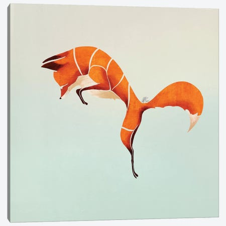 Fox IV 3-Piece Canvas #SAI24} by SAEIART Canvas Wall Art