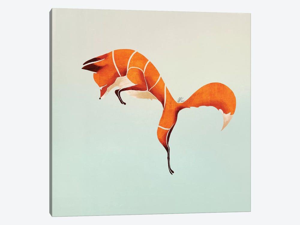 Fox IV by SAEIART 1-piece Canvas Art