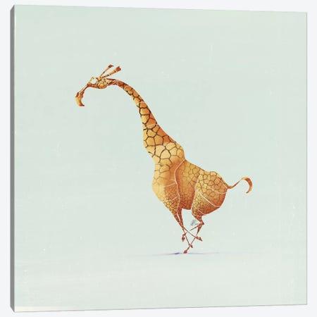 Giraffe Canvas Print #SAI26} by SAEIART Canvas Wall Art