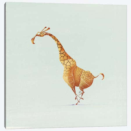 Giraffe Canvas Print #SAI26} by SAEIART Canvas Wall Art