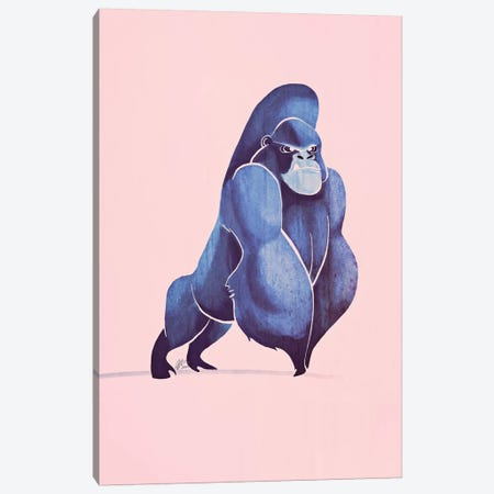 Gorilla Canvas Print #SAI27} by SAEIART Canvas Art