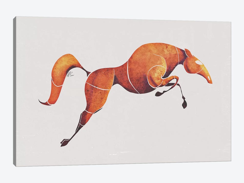 Horse IV by SAEIART 1-piece Canvas Art