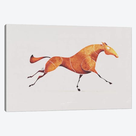 Horse V Canvas Print #SAI32} by SAEIART Canvas Art
