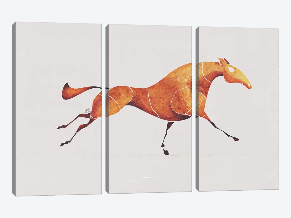 Horse V by SAEIART 3-piece Canvas Art Print
