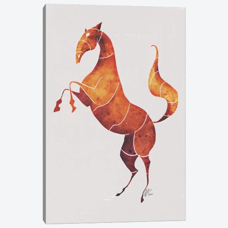 Horse VI Canvas Print #SAI33} by SAEIART Canvas Artwork