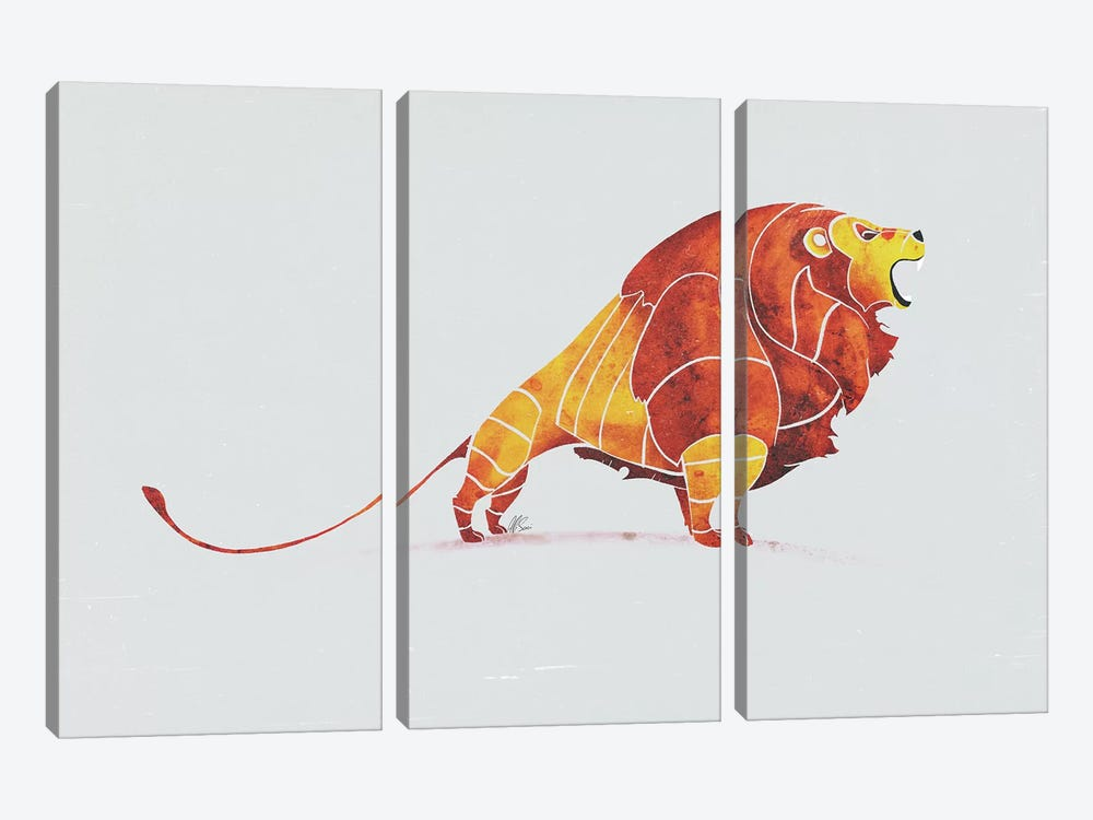Lion by SAEIART 3-piece Canvas Print