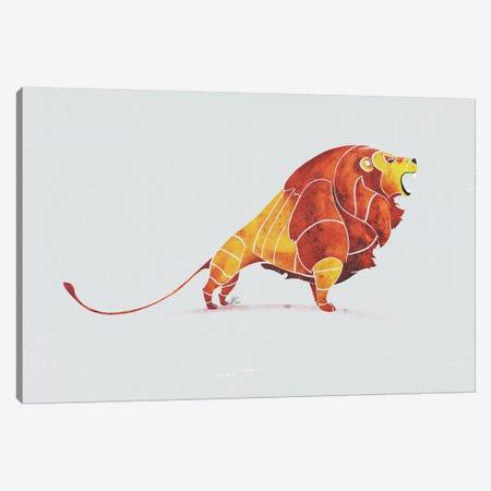 Lion 3-Piece Canvas #SAI36} by SAEIART Art Print