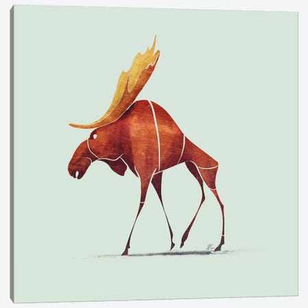 Moose Canvas Print #SAI37} by SAEIART Canvas Print