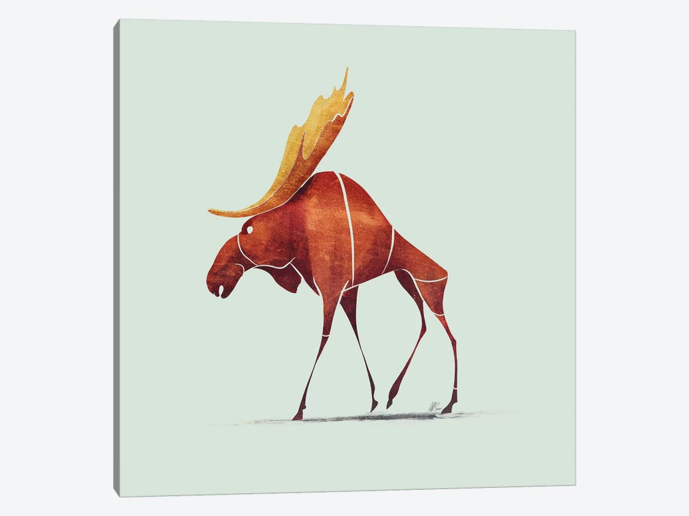 Moose by SAEIART 1-piece Canvas Art