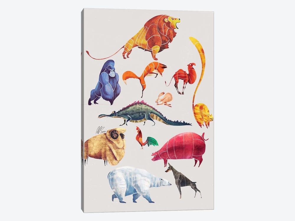 Animal Kingdom by SAEIART 1-piece Canvas Art