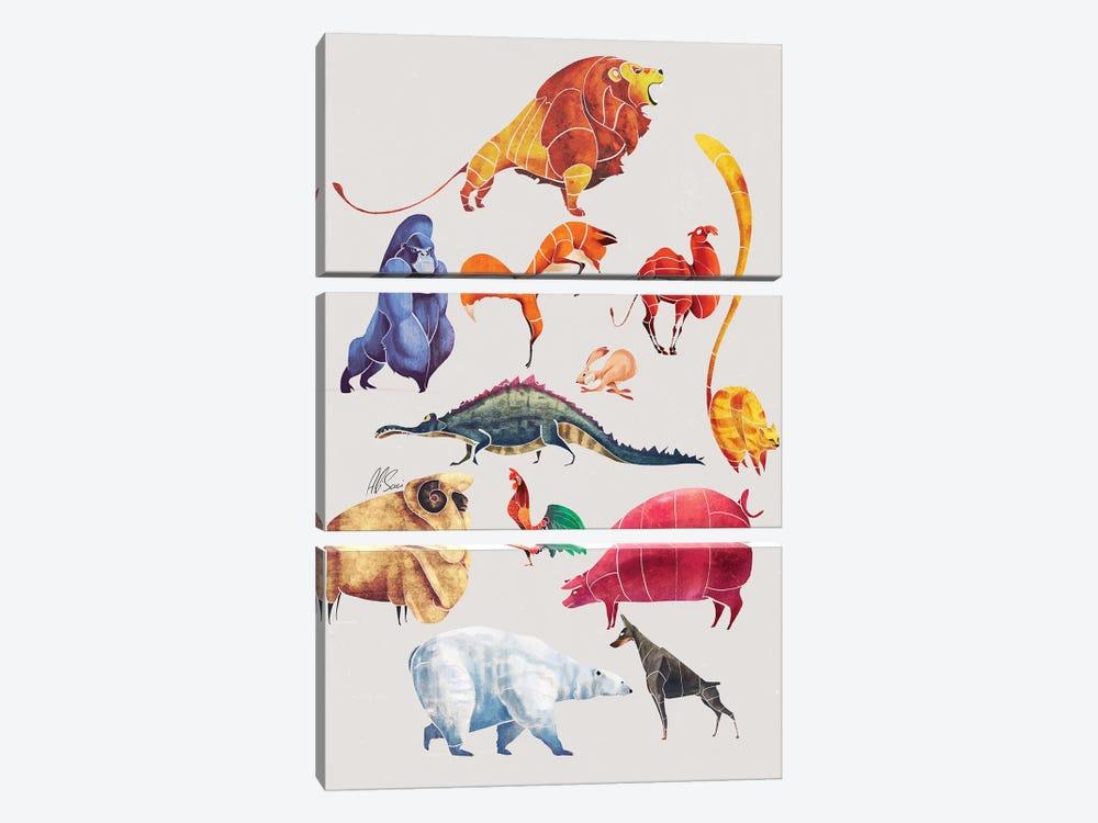 Animal Kingdom by SAEIART 3-piece Canvas Artwork