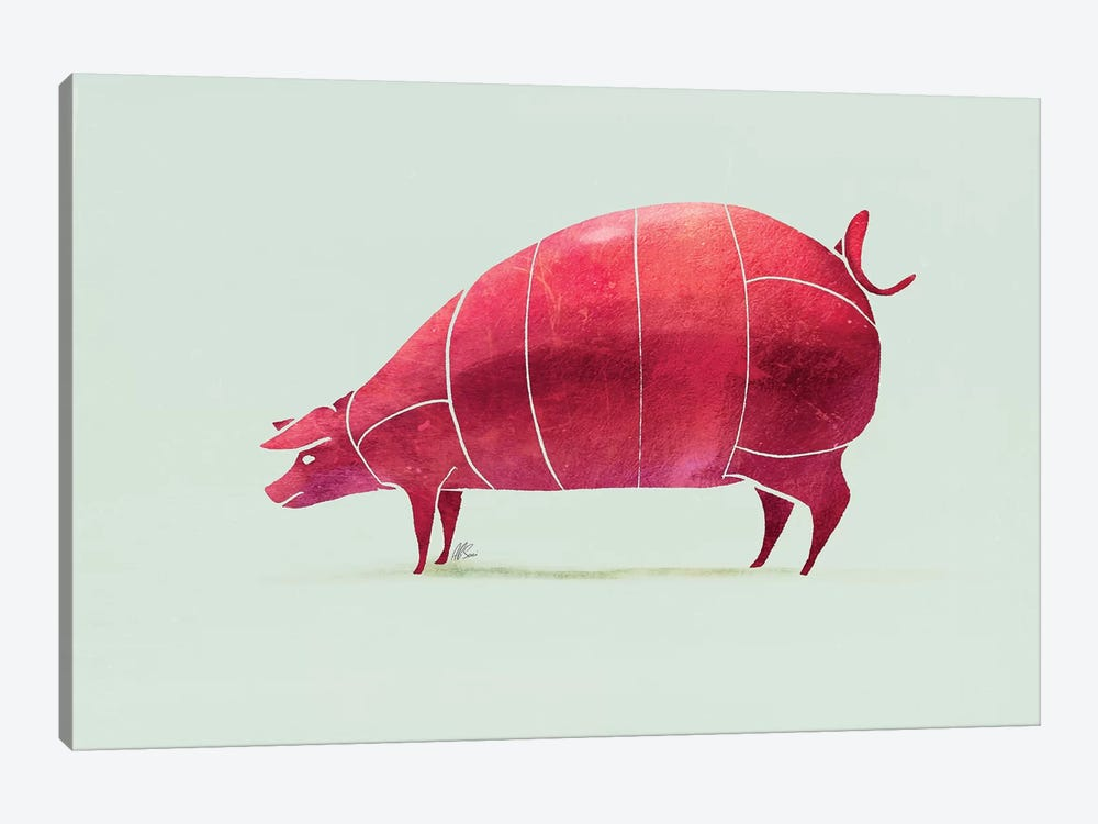 Pig by SAEIART 1-piece Art Print