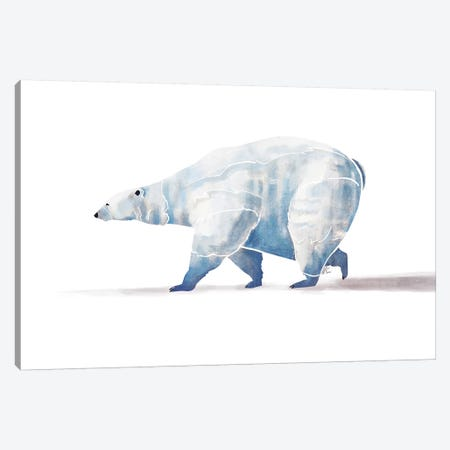 Polar Bear Canvas Print #SAI42} by SAEIART Canvas Art Print