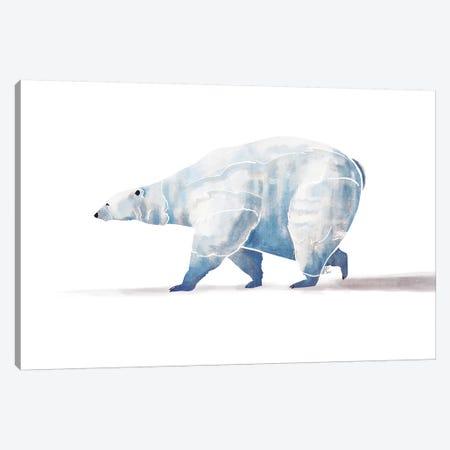Polar Bear Canvas Print #SAI42} by SAEIART Canvas Art Print