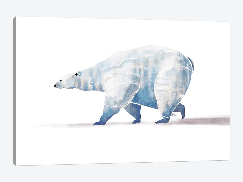 Polar Bear by SAEIART 1-piece Canvas Wall Art