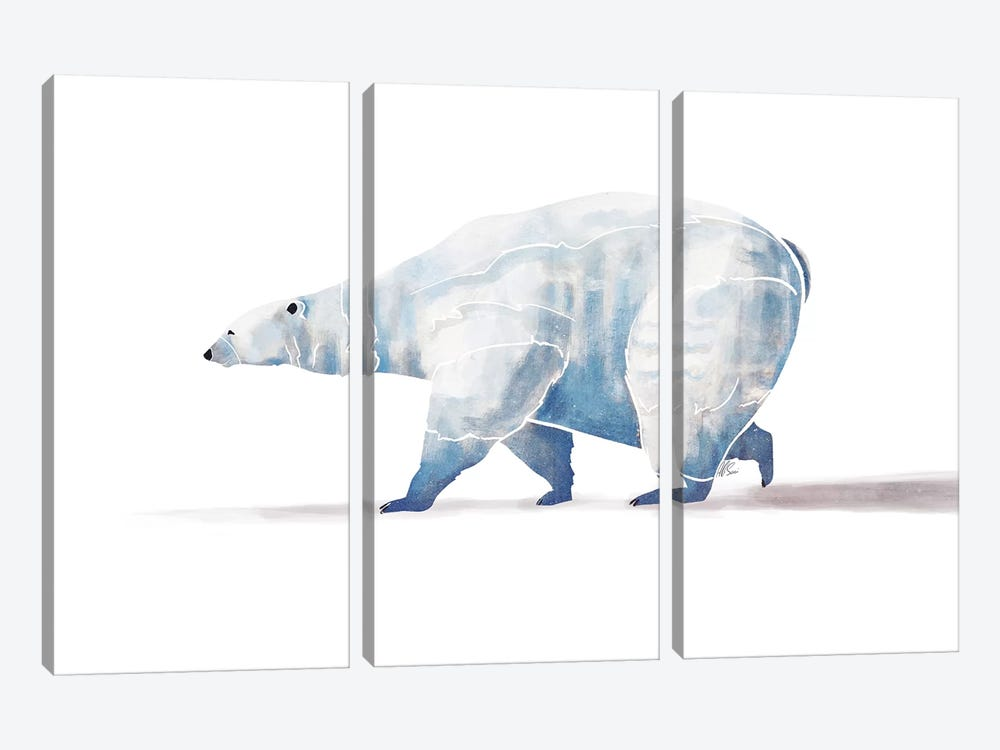 Polar Bear by SAEIART 3-piece Canvas Artwork
