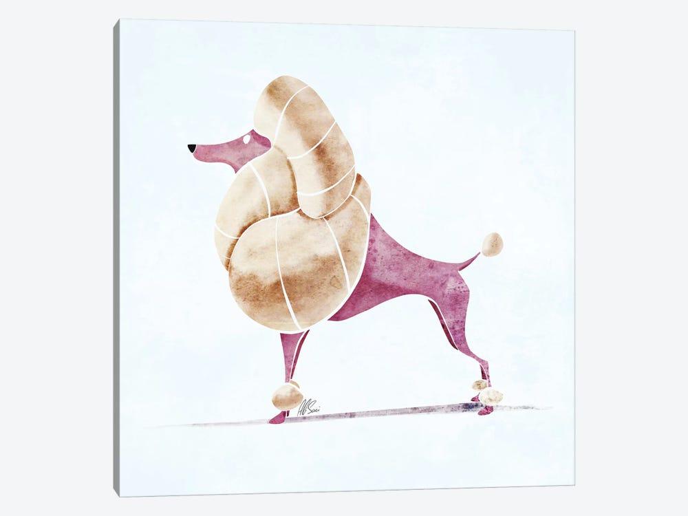 Poodle by SAEIART 1-piece Canvas Art Print