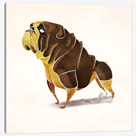 Pug Canvas Print #SAI44} by SAEIART Canvas Art