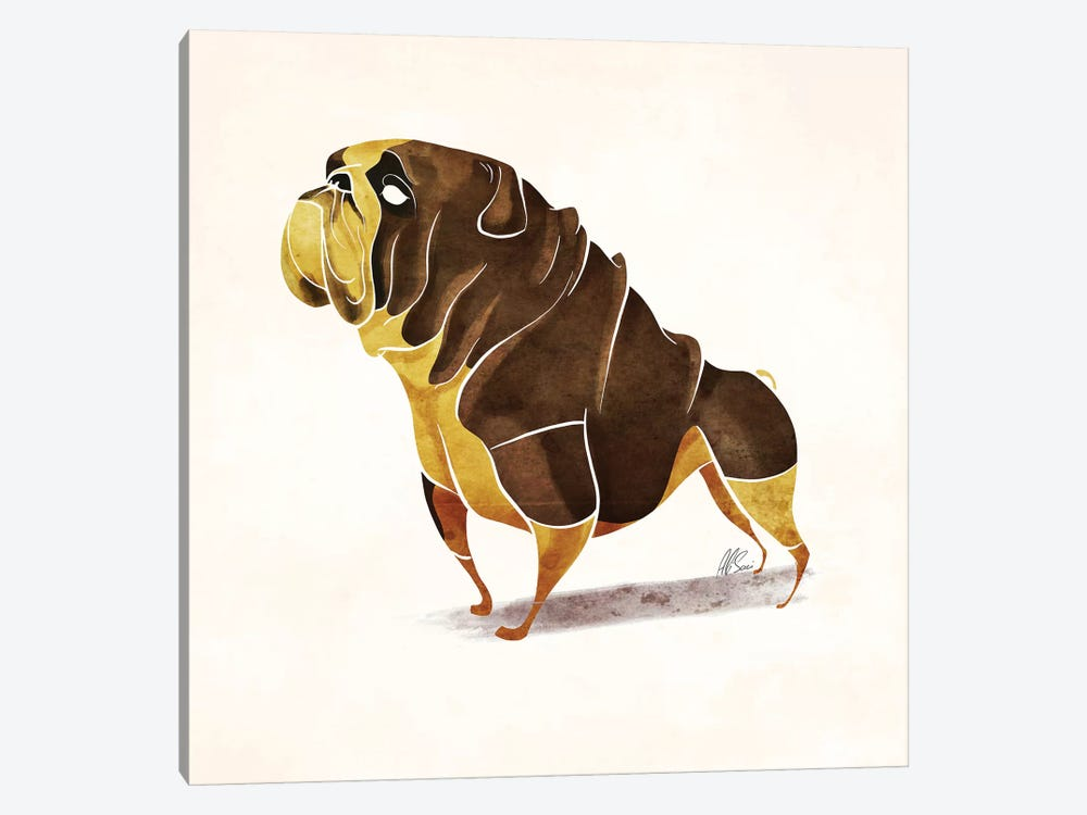 Pug by SAEIART 1-piece Canvas Art
