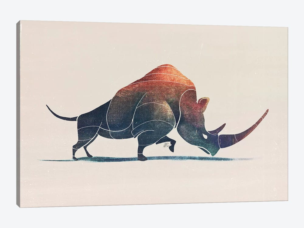 Rhino by SAEIART 1-piece Canvas Wall Art