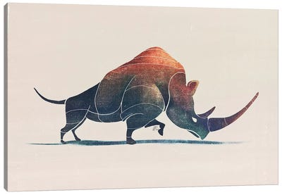 Rhino Canvas Art Print