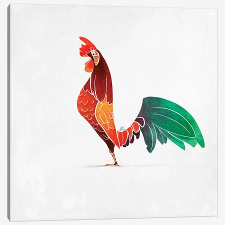 Rooster Canvas Print #SAI47} by SAEIART Canvas Wall Art