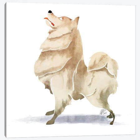 Samoyed Canvas Print #SAI48} by SAEIART Canvas Print