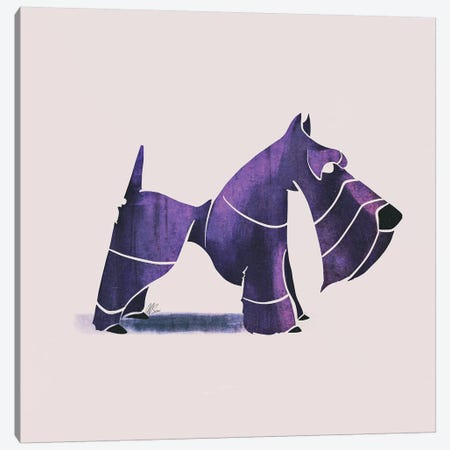 Scottish Terrier Canvas Print #SAI49} by SAEIART Art Print