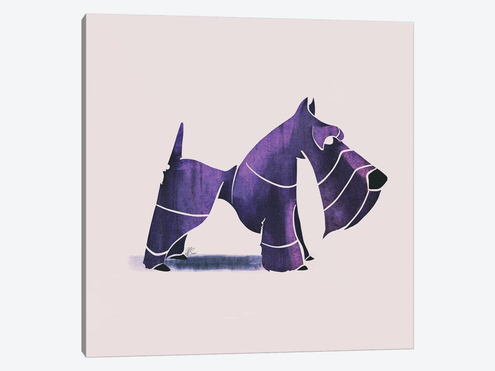 Scottish Terrier by SAEIART 1-piece Canvas Print