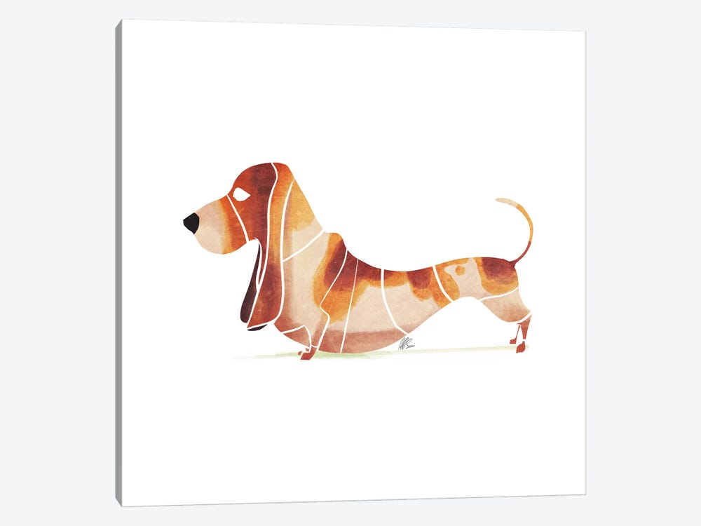 Basset by SAEIART 1-piece Canvas Art Print
