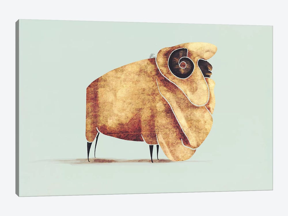 Sheep by SAEIART 1-piece Canvas Print