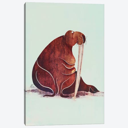 Walrus Canvas Print #SAI52} by SAEIART Canvas Artwork
