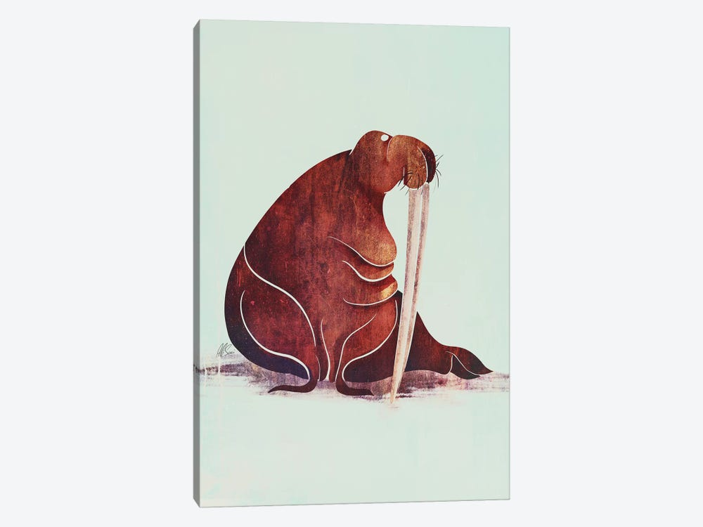 Walrus by SAEIART 1-piece Canvas Print