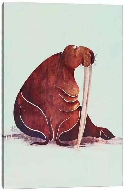 Walrus Canvas Art Print