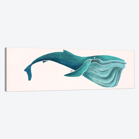 Whale Canvas Print #SAI53} by SAEIART Canvas Artwork