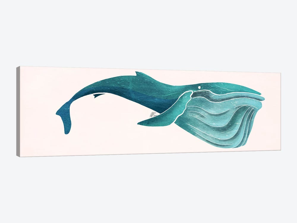 Whale by SAEIART 1-piece Canvas Art