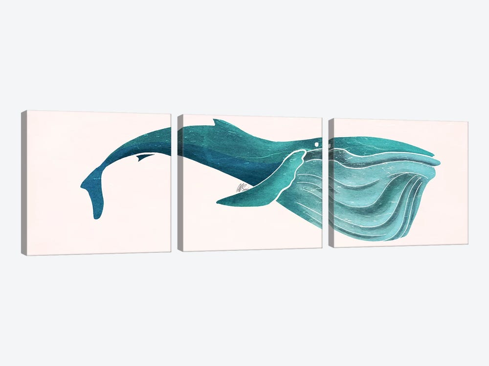 Whale by SAEIART 3-piece Canvas Artwork
