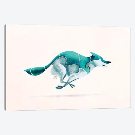 Wolf II 3-Piece Canvas #SAI56} by SAEIART Canvas Print