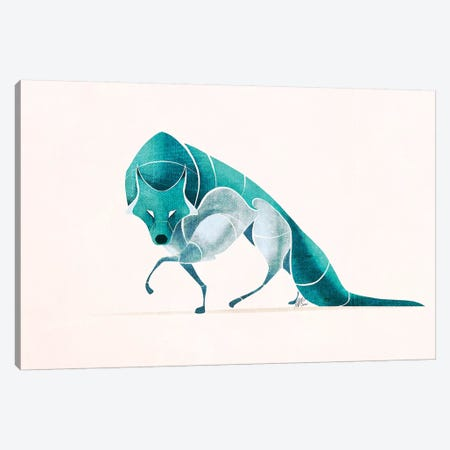 Wolf IV Canvas Print #SAI58} by SAEIART Canvas Art