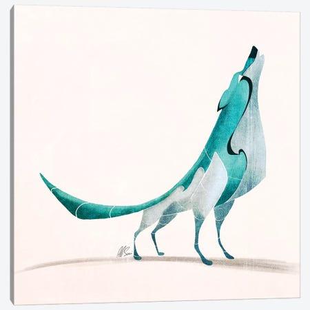 Wolf V Canvas Print #SAI59} by SAEIART Canvas Art