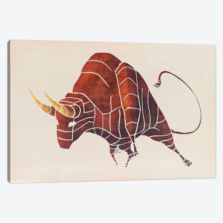 Bull Canvas Print #SAI5} by SAEIART Canvas Art Print
